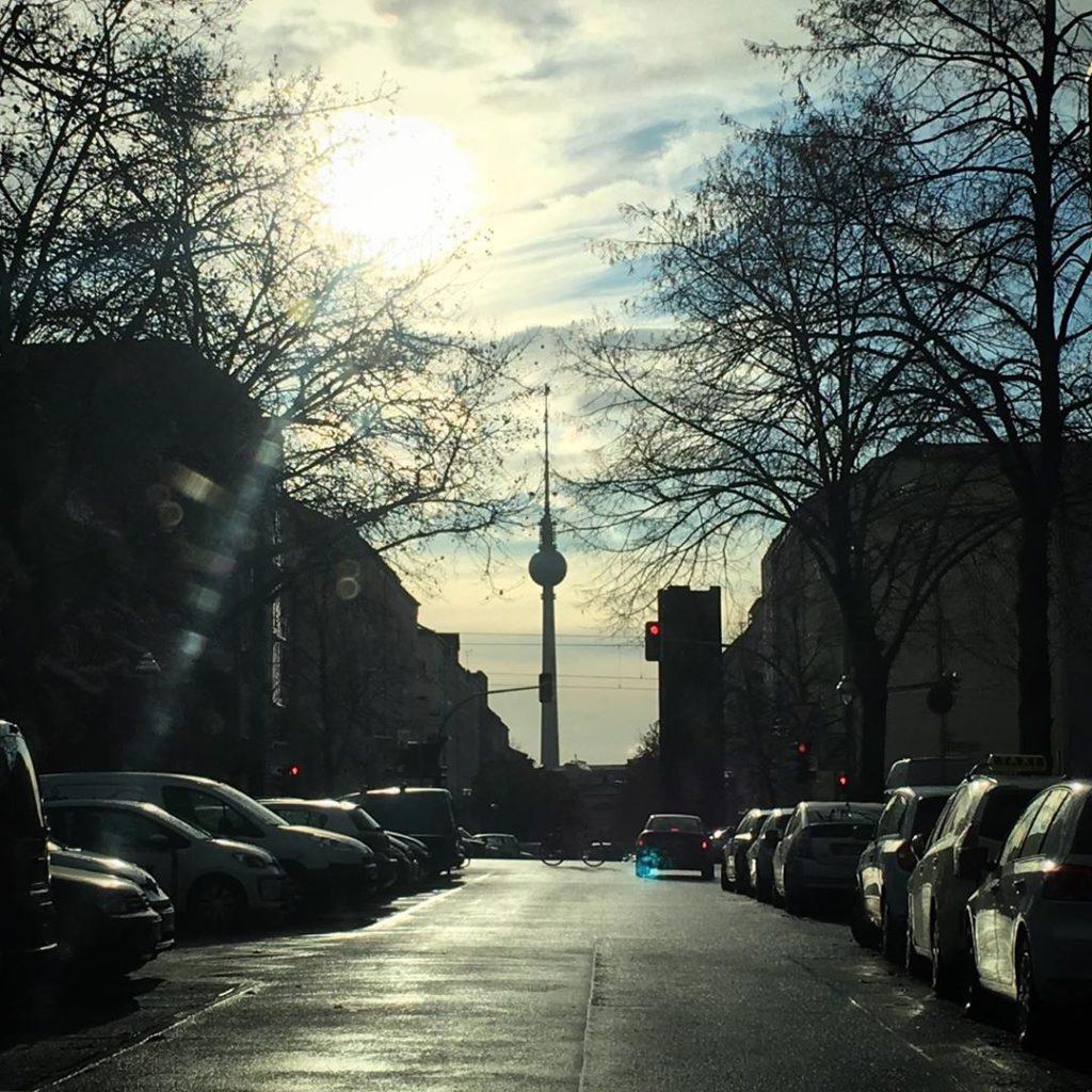 Berlin Strelitzer Strasse Fernsehturm