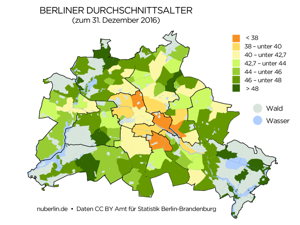 Berlin Durchschnittsalter der Berliner