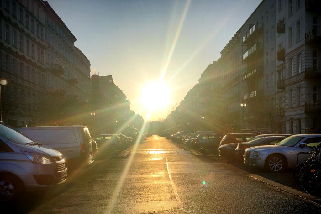 Berlin Sonnenaufgang Oderberger Strasse